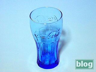 Coke Glassブルーの写真
