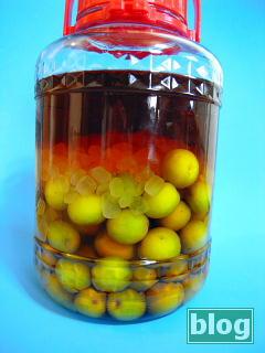 ブランデーベースの梅酒の写真