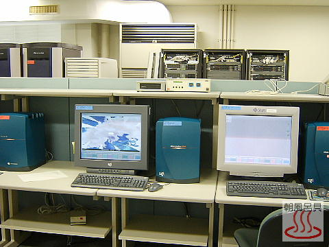 SGIのワークステーションがいっぱいの写真