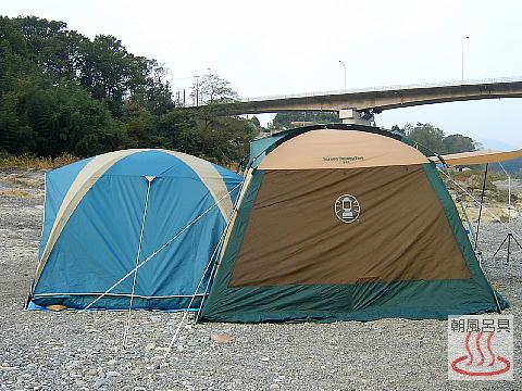 テントとタープをドッキング