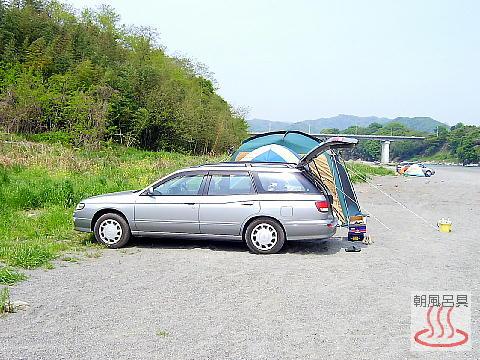 かわせみ河原でキャンプの写真